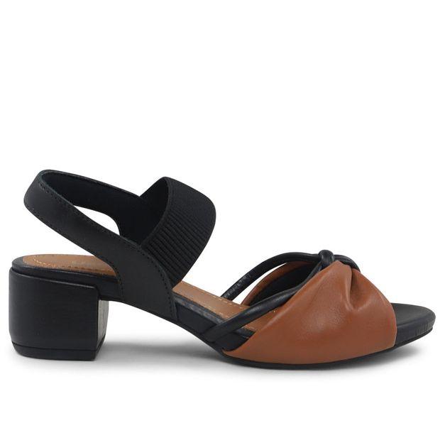 Sandália salto médio com elástico 33