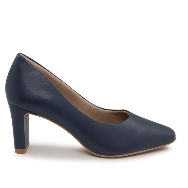 Scarpin liso azul 38