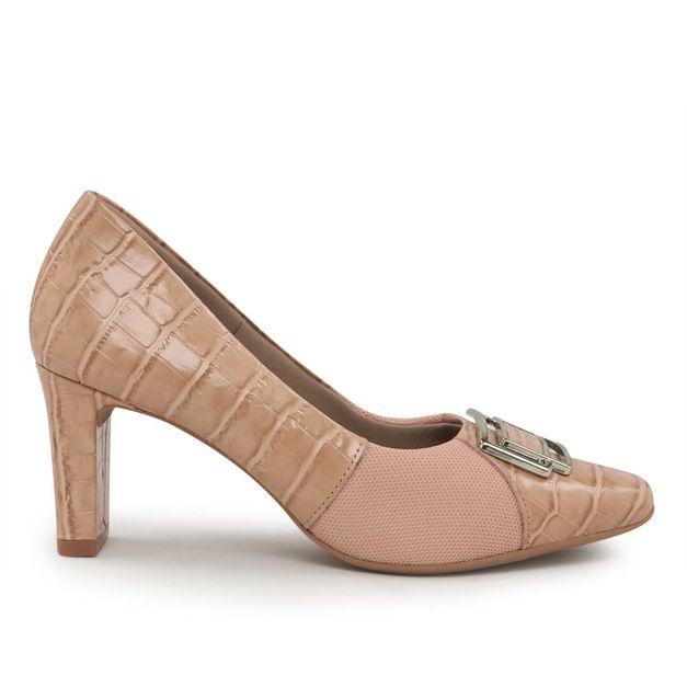 Scarpin croco rosa 34