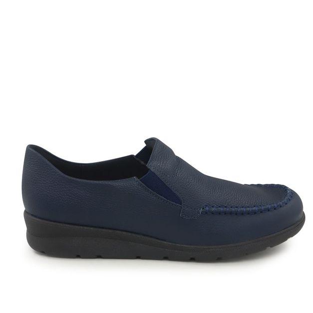 Mocassim azul com elástico 34