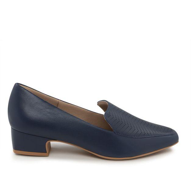 Slipper azul vazado 36