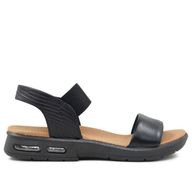 Sandália com elástico preto 33