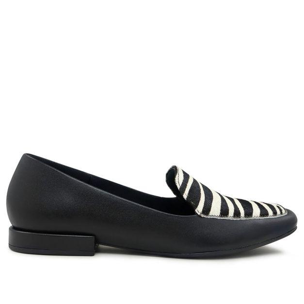 Slipper preto com zebra 33