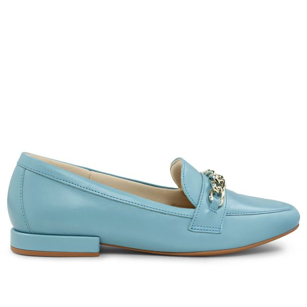 Loafer azul claro com corrente 33