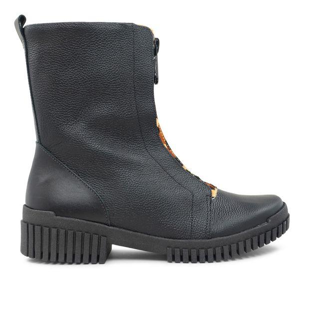 Flexy boot preta com detalhe pelo leopardo 33