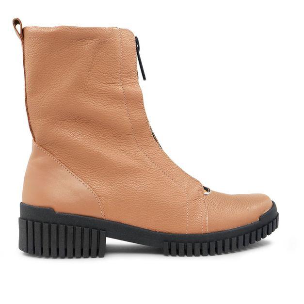 Flexy boot marrom com detalhe pelo leopardo 33