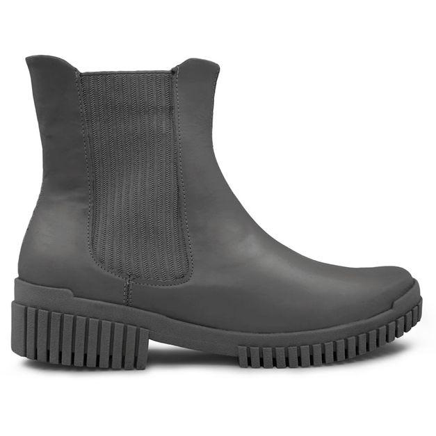 Bota Flexy Boot preta com elástico