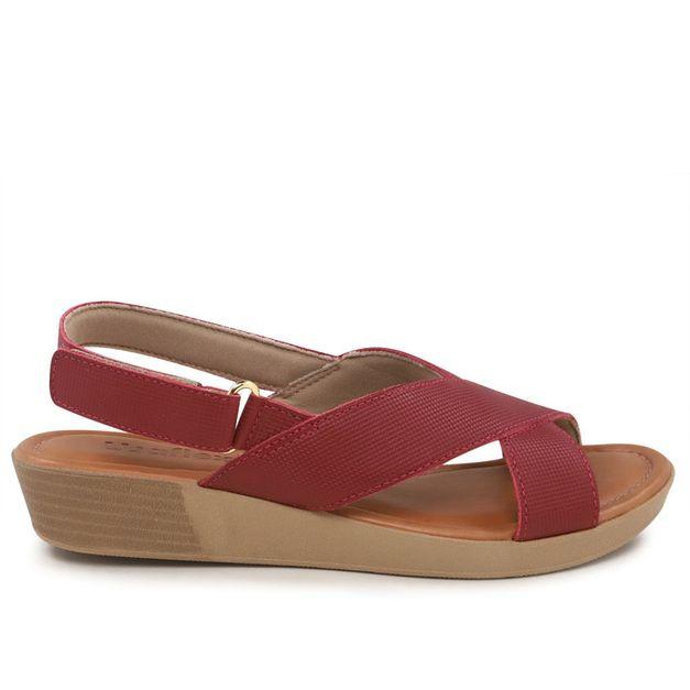 Sandália rebu anabela 35