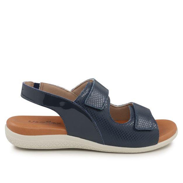 Sandália azul com velcro 35