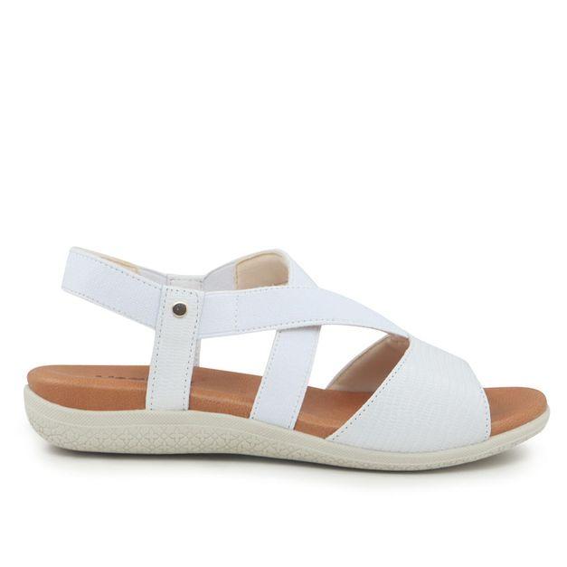 Sandália marrom branco 34