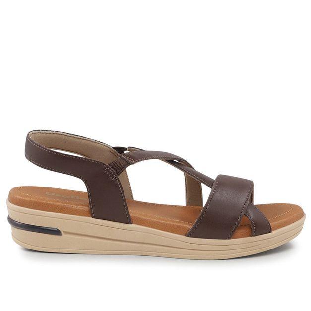 Sandália de tiras marrom chocolate 33
