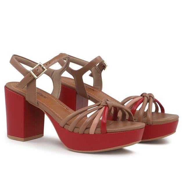 Sandália marrom trançada 34
