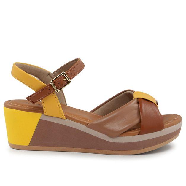 Sandália com tiras multicolor 35