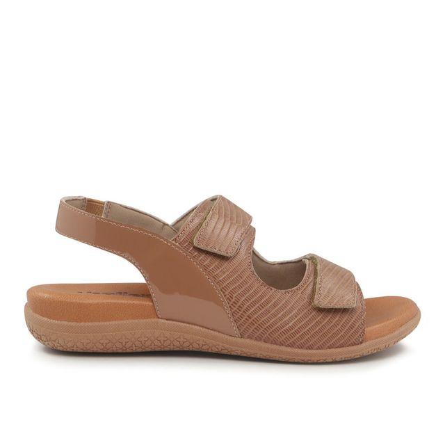 Sandália marrom com velcro 34