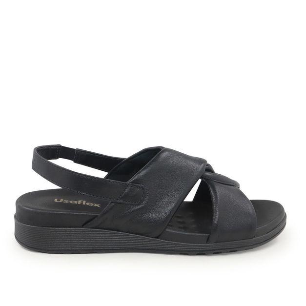Sandália trançada pelica preto 34