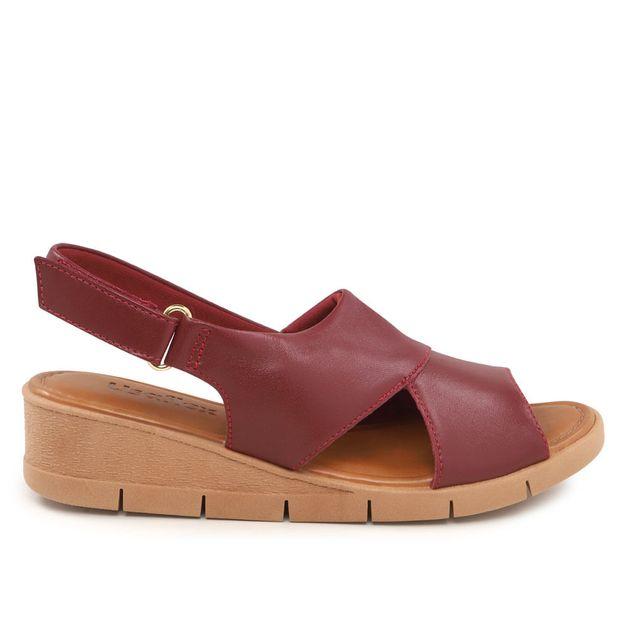 Sandália vermelha com velcro 33