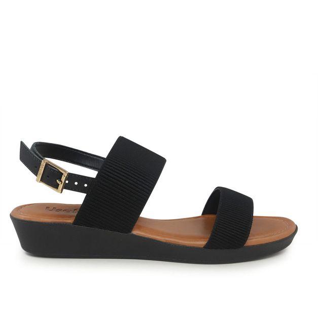 Sandália elástico preta 34
