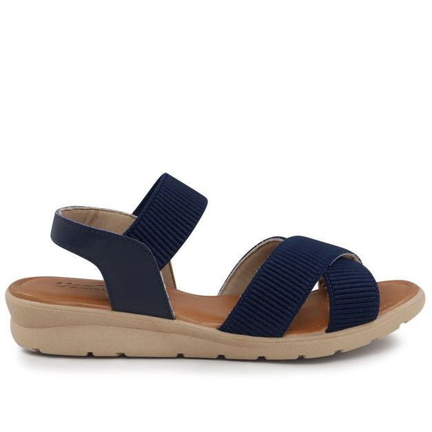 Sandália elástico azul 35