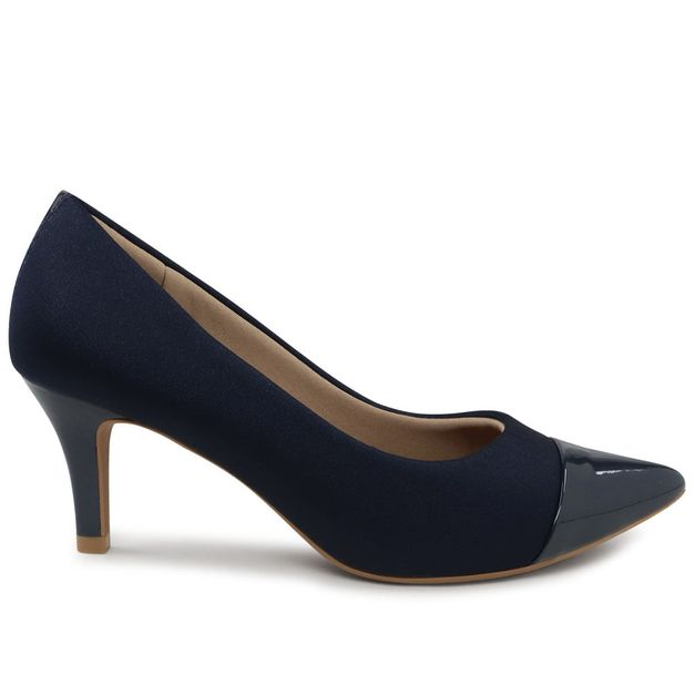 Scarpin elastano new blue 33