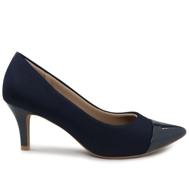 Scarpin elastano new blue 36