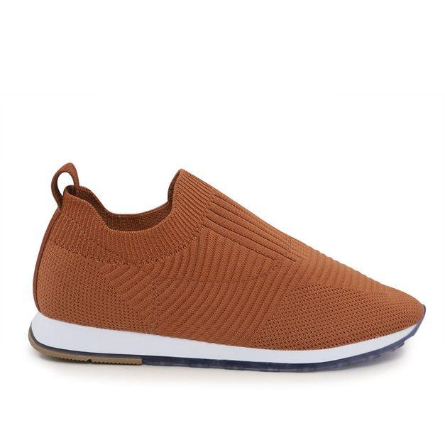 Tênis tricot canela 33