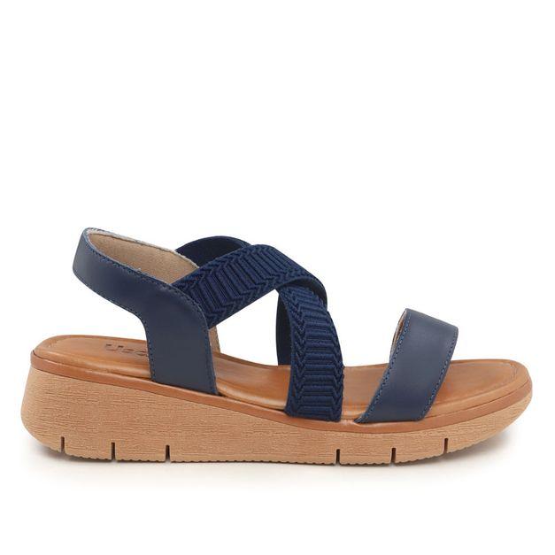 Sandália azul com elástico 34