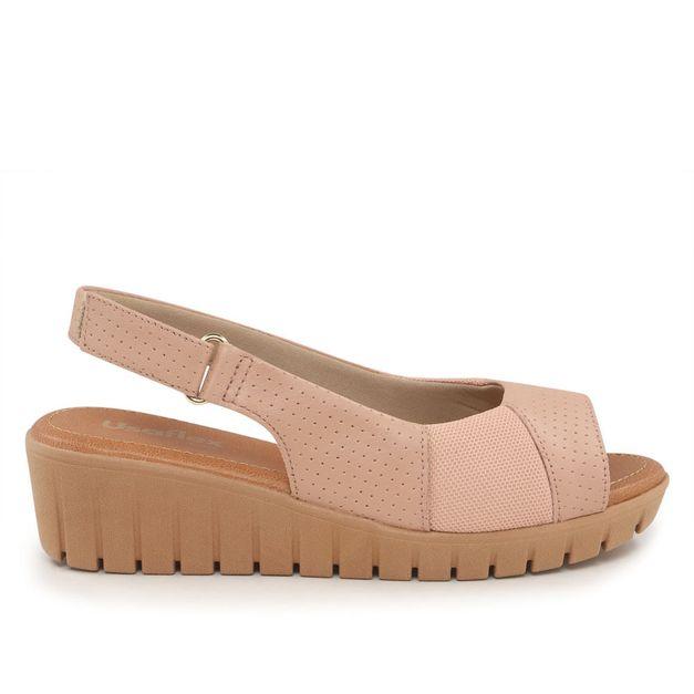 Sandália rosa salto médio 34