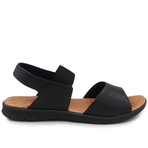 Sandália escamado preto 33