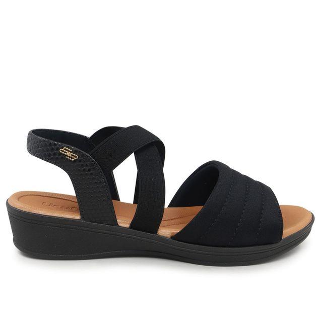 Sandália preta com elástico 33