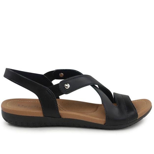 Sandália preto com elástico 34