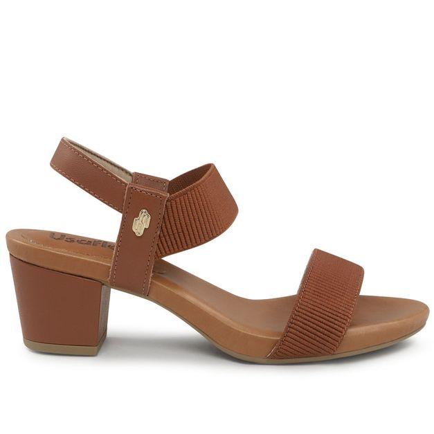 Sandália marrom com elástico 33