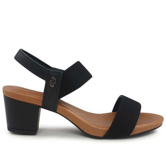 Sandália preta com elástico 35