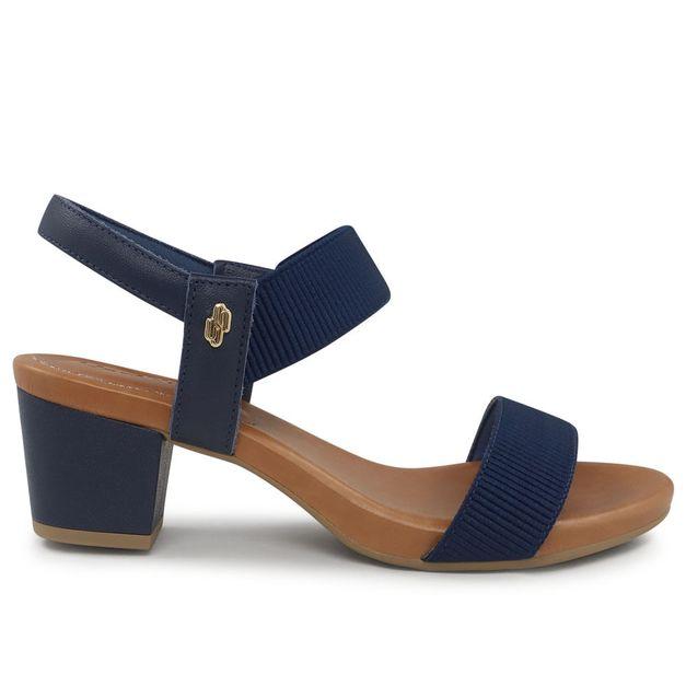 Sandália azul com elástico 33