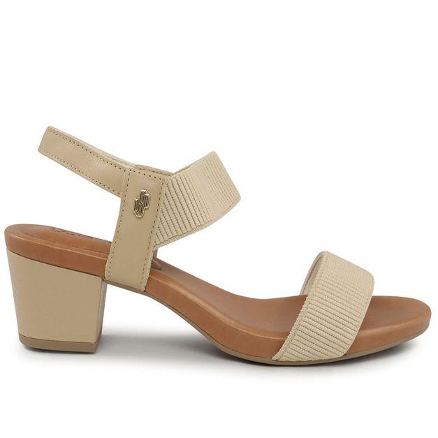 Sandália blush com elástico 34