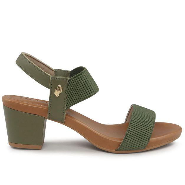 Sandália verde militar com elástico 34