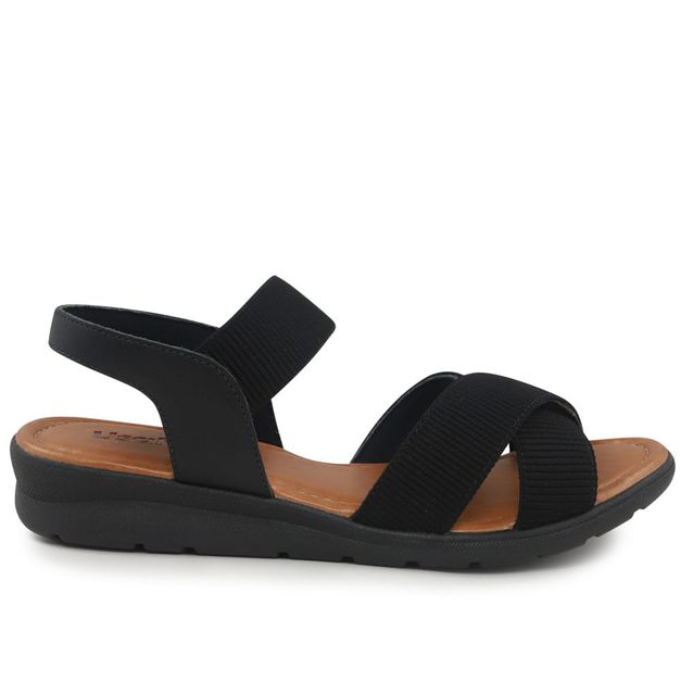 Sandália elástico preto 34