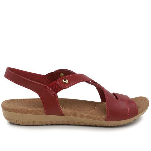 Sandália vermelha com elástico 34