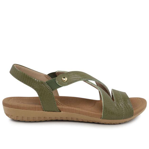 Sandália verde com elástico 33