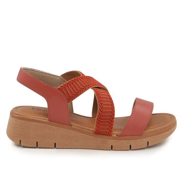 Sandália vermelha com elástico 33
