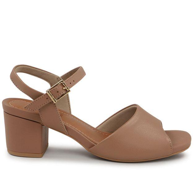 Sandália básica camel 35