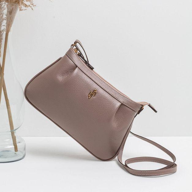 Bolsa tiracolo lilás mauve