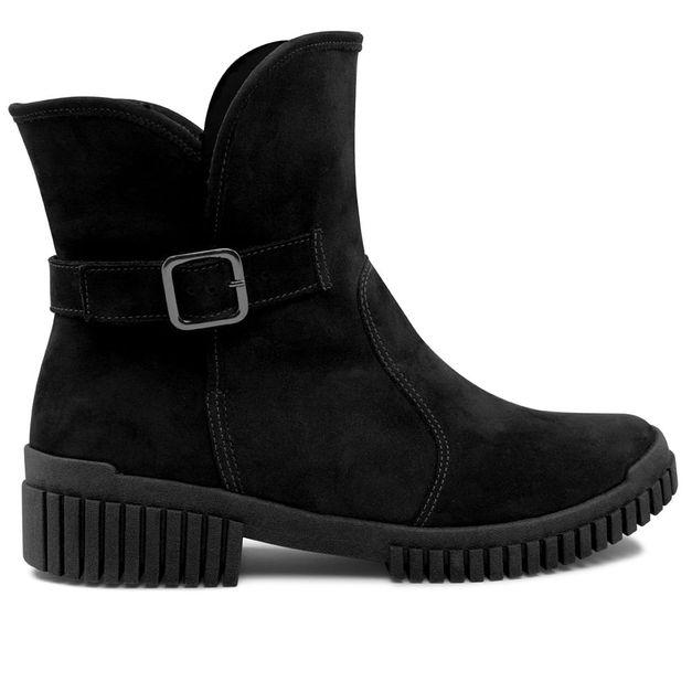 Flexy boot preta forrada com pelo 35