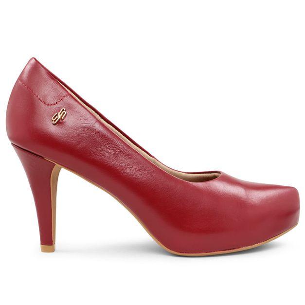Scarpin liso vermelho rebu 34
