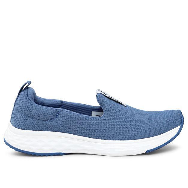 Tênis azul claro liso Usa+leve Rainha 34