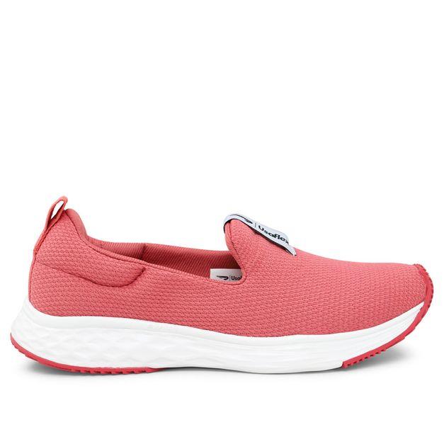 Tênis rosa liso Usa+leve Rainha 34