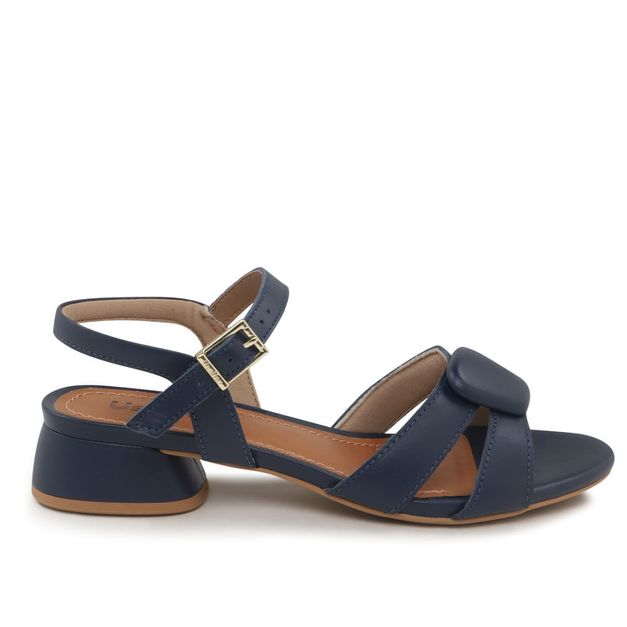 Sandália couro azul 34