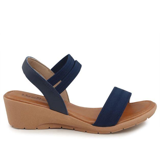 Sandália tiras com elástico azul 33