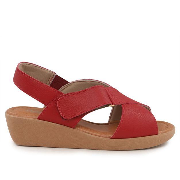 Sandália vermelha com velcro 35