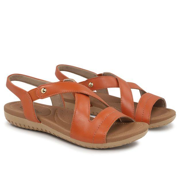 Sandália marrom caramelo com elástico 33