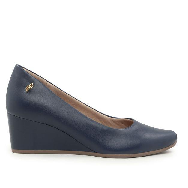 Scarpin liso azul 34